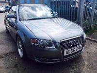 AUDI A4 CONVERTIBLE S LINE 2.0 DIESEL MANUAL LEATHER SEATS 2007 ALLOYS