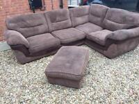 DFS mocha brown corner Sofa