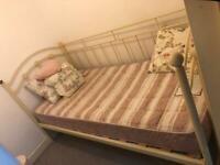 Cream Day Bed & mattress