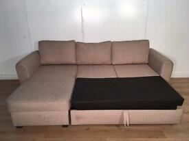 NEXT Beige corner sofa bed with free delivery within 10 miles