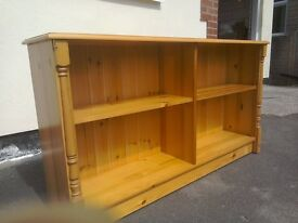 Pine bookcase with lots of storage ,