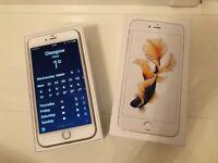 APPLE IPHONE 6S PLUS 128GB - GOLD - PRISTINE WITH ORIGINAL BOX & ACCESSORIES - LOCKED TO O2