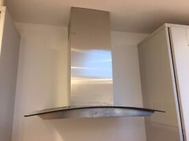 Stainless steel Hotpoint cooker hood