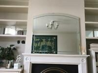 Art Deco overmantel mirror