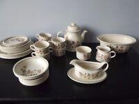 Vintage Marks And Spenser Autumn Leaves Items Plates Tea Set Etc