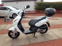 Peugeot Kisbee Scooter, White, 50cc, 67 plate (2017)