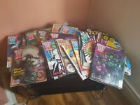 old 2000ad, warhammer,warlock,adnd books, comics, various other fantasy game books