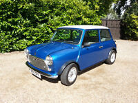 AUSTIN MINI MAYFAIR 1000 1985. METALLIC BLUE & WHITE. (MANUAL).