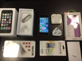 iPhone 5s Space grey. Factory unlocked. Excellent condition. Lots of new accessories-case,headphones