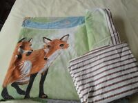 Childs Bedding Set - Single Quilt Cover & Pillowcase - Farthing Wood