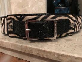 Karen Millen Pony Hair leather Belt- like new.