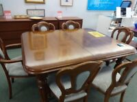 Victorian style dining table and chairs