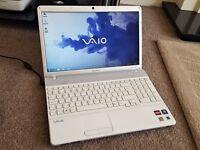 Sony Vaio VPCEE2M1E laptop, AMD, 4gb ram, 320gb hdd, microsoft office