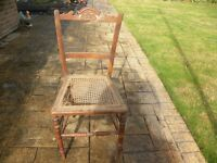 Old Wooden Bedroom Chair