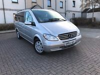 *AUTOMATIC*MERCEDES VIANO EX-LONG-6 SEATS-FULL LEATHER-TOP RANGE EXAMPLE-TABLE BAR INSIDE-1 F.KEEPER