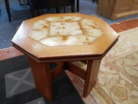 Excellent condition retro G-plan tile top octagonal coffee table