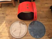 Hayman 24x14 Bass Drum Shell & Hoops restored by Eddie Ryan - For Sale or Trades