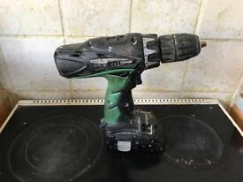 Hitachi Combi Drill with 2 batteries and charger