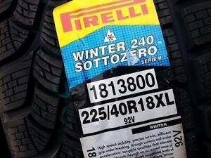 799$, 4 NEW 225-40-R18 PIRELLI SOTTOZERO 240, NEUFFFF PRIX FERME CALL ONLY, 514-475-0119