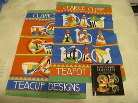 Clarice Cliff book and tea towels - Taking Tea with Clarice Cliff