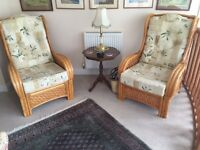 Cane conservatory chairs