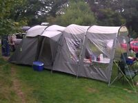 Outwell Tent - (Minnesota) 4-person with front extension, footprint ground sheet and carpet