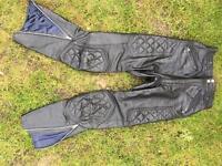 Ladies/Girls black leather Rivett's London Size XS