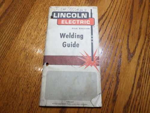Vintage 1971 Arc Welding Guide Book Lincoln Electric Arc Stick Electrode