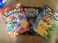 3 x pokemon annual in good condition collected item
