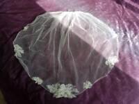 Vintage style lace veil