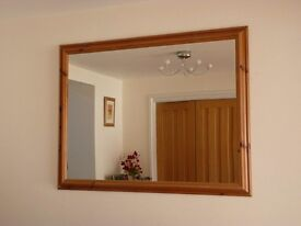 MIRROR large pine framed, 1140 mm X 880 mm (outer frame size)