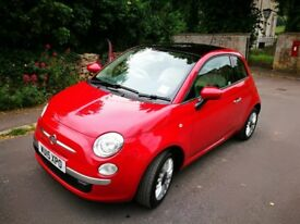 Fiat 500 lounge 2015 excellent condition, long mot, full service history, bluetooth, pan sunroof