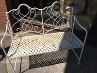 Beautiful iron garden ornate bench