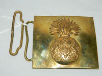 Waist belt buckle of The Royal Scottish Fusiliers, by Hobson& sons of London Ltd. Guide