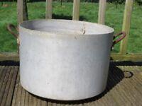 Very large vintage preserving/washing pan, pot - garden use