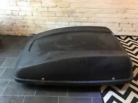 Large roof box and Thule roof bars