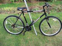 Mens/Boys Mountain Bike 26in Wheel 21in Frame 18 Gears In Good Condition