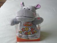 Cosy Cuddles - microwaveable Hippo - brand new