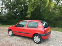 Renault Clio 1.2 grande 2001 power steering mot April 2017 low insurance 48+ mpg