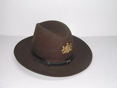 PENNSYLVANIA STATE POLICE 3XXX BEAVER SIZE 7 TROOPER HAT - NICE!
