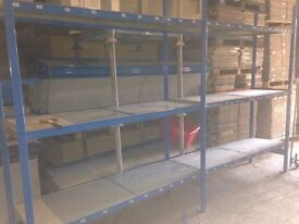 20 bays QBS industrial long span shelving , 4 levels( pallet racking , storage )