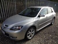 MAZDA 3 SPORT 2.0 PETROL 2007 SILVER 5 DOOR HATCHBACK 66,000 MILES MOT 27/04/19 EXCELLENT CONDITION