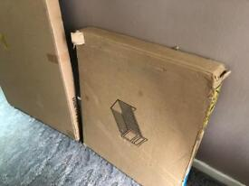 brown brand new unwanted cot