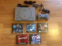 PlayStation 1 console, games. Retro gaming