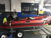 Quiksilver rib boat cw trailer 25hp engine first to see will buy