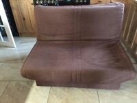 Chocolate two seater sofa bed