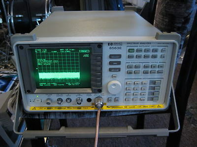 Hp Agilent 8563e Spectrum Analyzer 9 Khz - 50 Ghz If W Mixers Calibration Cert