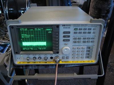 Hp Agilent 8563e Spectrum Analyzer 9 Khz - 50 Ghz If W Mixers Cal Cert Opt 78