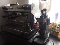 Coffee machine and Grinder Brasilia brand