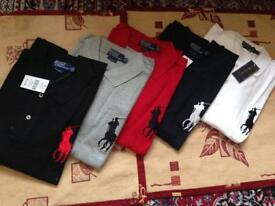 Ralph Lauren men's polo shirt big pony long sleeves sizes: S to XXL 5 colour 2 for £25
